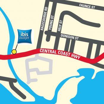 Ibis Budget gosford map